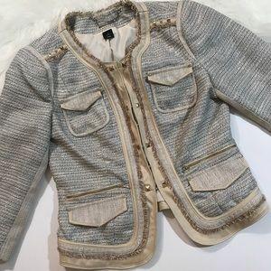 [White House Black Market] Tweed Studded Blazer